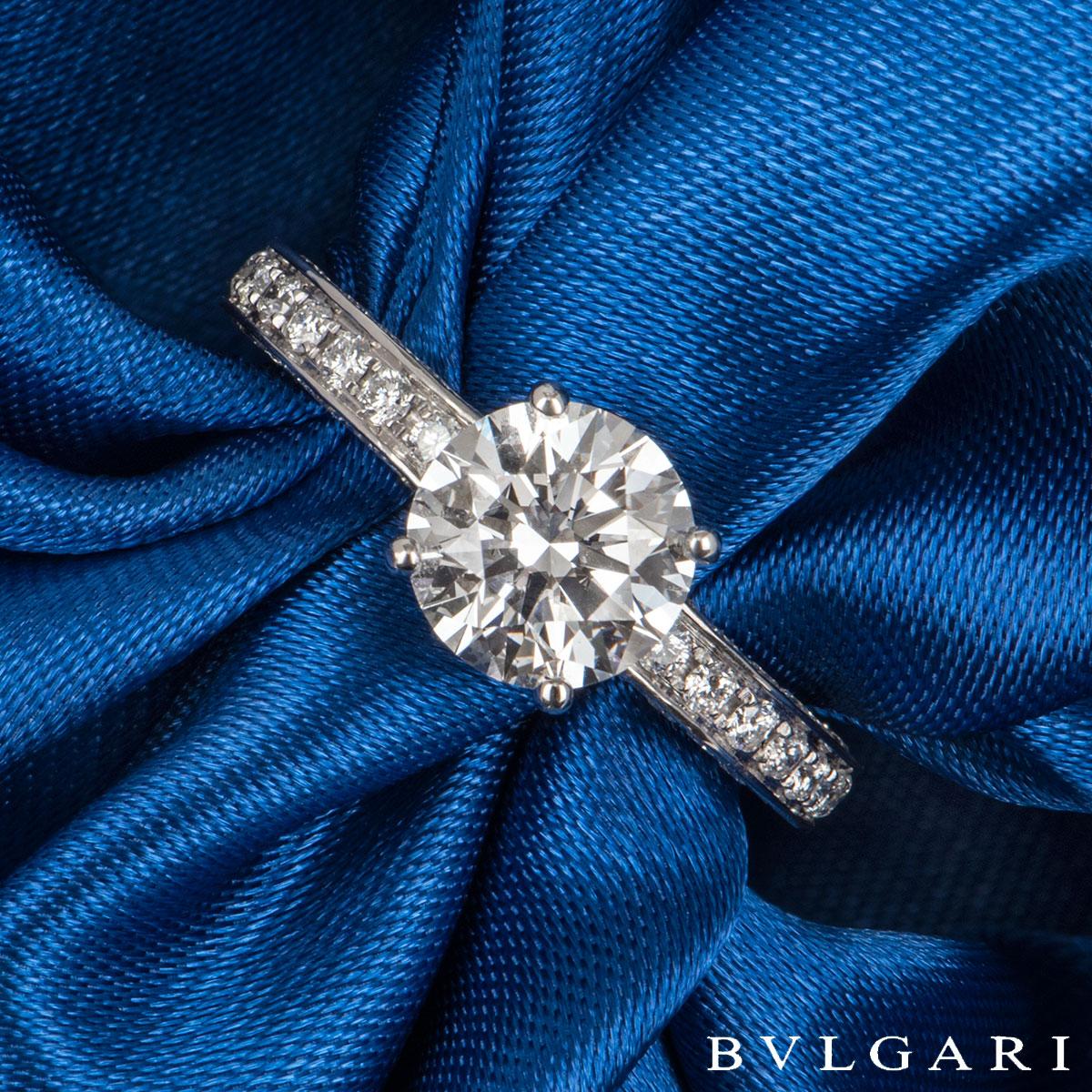Bvlgari Platinum Diamond Dedicata A Venezia Ring 1.50ct D/VS2